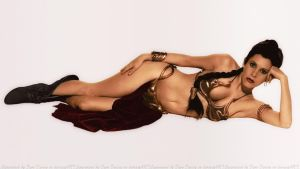 Carrie Fisher Slave Girl Princess by Dave-Daring