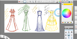 Initial Scribbles - Hogwarts House Gowns by ContntlBreakfst