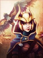 Quinn + Valor | League of Legends by Jynxed-Art