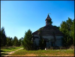Church Taken By Nature by luv-maiki