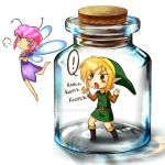 Tiny hero in a bottle by InkyDoc