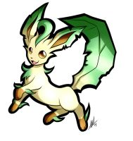 Leafeon Sticker by Smudgeandfrank