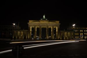 Brandenburger Tor By Night From The Out Side by mortenthoms