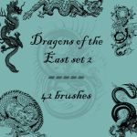 Dragons of the East 2 by rL-Brushes