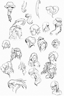 Hair Sketches by paper-butterfly