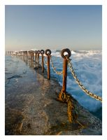 Chainlinks by the sea. by The-name1ess