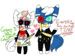 Rin and meowstic as paige and tony by cuteprincesspiplup