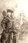 Batuyisu Gonji Mangedei of Nodai-in Ulus (Mongol) by Gambargin