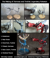 The Making of Xerneas and Yveltal by emilySculpts