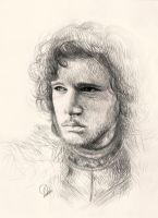 Jon Snow from Game of Thrones by Viivee