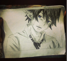 Rin Okumura by HollowFawiha