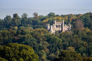 Lowther Castle in the trees by SkankinMike