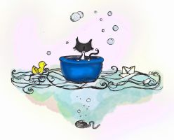 Dadou saling away in my bath by meijieishere