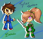 Gift: Tyler and Bethela by lozix