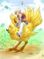 Ace And Chocobo by Kamamiko
