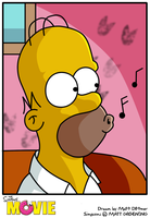Homer:Simpsons Movie by kintobor