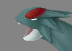 Painterly Derp: Salamence by heilei