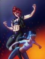 Thetis and Fiona alt by DaigotheBeast