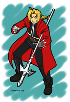 Edward Elric Color Miniprint by HolyLancer9