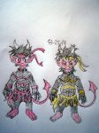 Sons of Ryan Devil twin princes Issac and Milton by Vyel