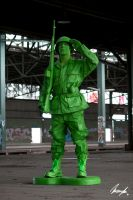 plastic toy soldier by InsaneAnni