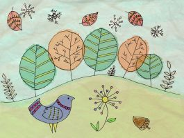 Seasons Doodle by Lucora