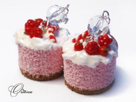 Earrings Raspberry Biscuit by OrionaJewelry