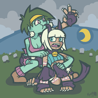 Rottytops and Ms. Fortune by Kyattsuai7