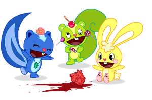Happy tree friends by raccooon325