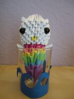 3D Origami - Hello Kitty Mermaid - 1 by Mixowelle