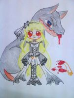 Jannette and Hellhound by Charming-Manatee