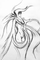 Sketch: Lady in smoke by Dominique1212