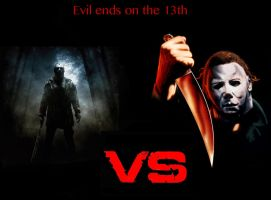 Jason Voorhees vs Michael Myers by BlazingFury316