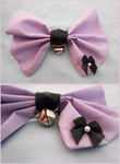 Purple Bow with Bell by SakuranboNeko