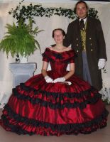 Victorian 1860 ball gown by DeredereGalbraith
