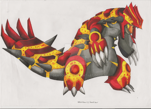 Groudon  [Commish] by DragonFiry