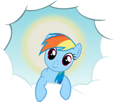 Rainbow Dash - Cloud hole by D4SVader