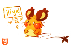 Dedenne c: by Teatime-Rabbit