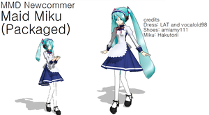 MMD Maid Packaged Miku DL by FB-C
