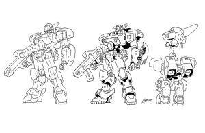 Mecha Designs by NachoMon