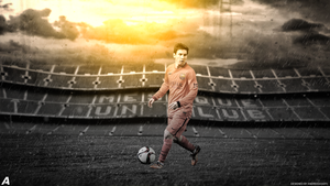 Lionel Messi wallpaper by AndreeeasGFX
