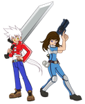 Commission: Zero and Sarah Knight by Trinityinyang