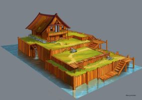 farmer's house by Merryminder