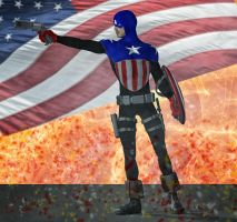 Cap America Bucky 2nd skin textures for M4 by hiram67