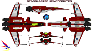Starblaster Heavy Fighter USS Atlantis by bagera3005