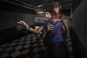 TF2: Scout/Scout - Are you gonna cry now? by DeathsFugitive