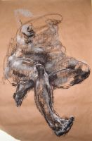 Seated Figure with Feet by DEREKoverfield