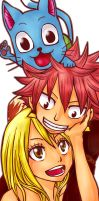 Natsu Lucy and Happy by Quantia13