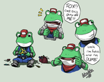 Slippy expressions sketch by icha-icha