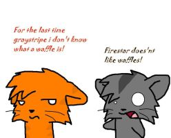 Firestar doesnt like waffles by Skysong654